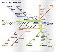 Linjakartta Tunnelirata Poster