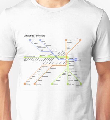 Linjakartta Tunnelirata Unisex T-Shirt