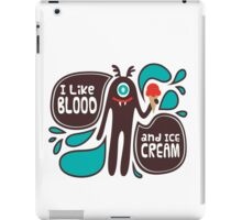 Cute and Creepy Vampire illustration iPad Case/Skin