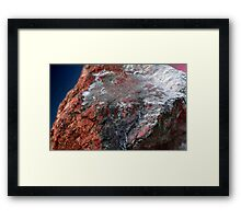 Ancient sea, frozen in stone Framed Print