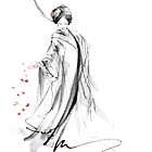 Geisha poster, Japanese painting home decor art print by Mariusz Szmerdt