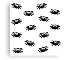 Many little spiders Canvas Print