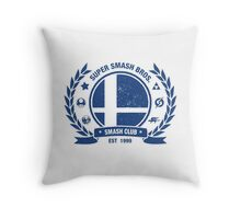 Smash Club (Blue) Throw Pillow
