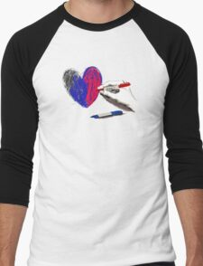 Paper Heart Men's Baseball ¾ T-Shirt