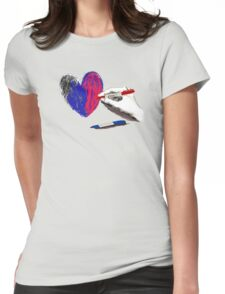 Paper Heart Womens Fitted T-Shirt