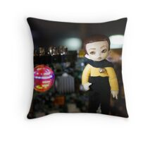 Atomic Android Throw Pillow