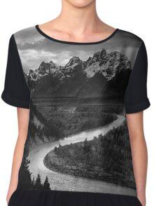 Ansel Adams - Grand Tetons and Snake River Chiffon Top