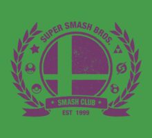 Smash Club Ver. 3 (Purple) Kids Tee