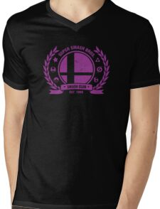 Smash Club Ver. 3 (Purple) Mens V-Neck T-Shirt