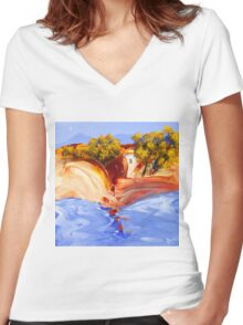 Lovers cove Women's Fitted V-Neck T-Shirt