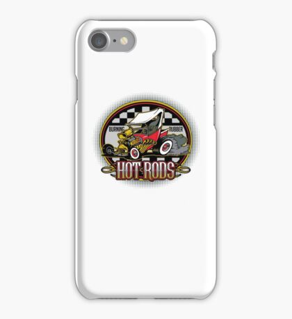 Hot Rods Burning Rubber iPhone Case/Skin
