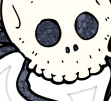 spooky skull spider Sticker