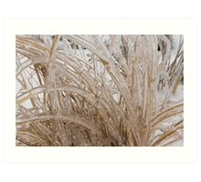 Icy Grass Sculptures Art Print