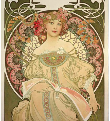 Art Deco, Alphons Mucha, Vintage, Art Nouveau Sticker