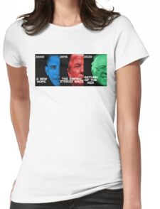 Star Wars Trilogy - Obama, Trump, Bernie  Womens Fitted T-Shirt