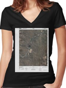 USGS TOPO Map Colorado CO Willow Creek Ranch 20100920 TM Women's Fitted V-Neck T-Shirt