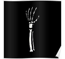 skeleton hand Poster