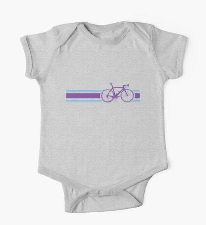 Bike Stripes Purple & Blue One Piece - Short Sleeve