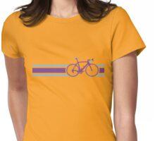 Bike Stripes Purple & Blue Womens Fitted T-Shirt