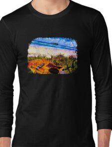 Fingal Beach Surf Guitar Long Sleeve T-Shirt