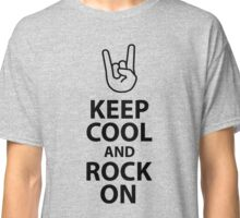 Keep Cool and Rock On Heavy Metal  Classic T-Shirt