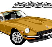 Datsun 260Z gold by car2oonz