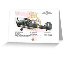 Fairey Swordfish Greeting Card