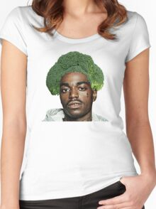 Kodak Black Broccoli Head- Transparent Background Women's Fitted Scoop T-Shirt