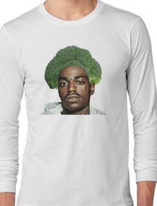 Kodak Black Broccoli Head- Transparent Background Long Sleeve T-Shirt