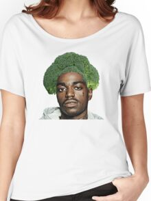 Kodak Black Broccoli Head- Transparent Background Women's Relaxed Fit T-Shirt