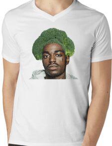 Kodak Black Broccoli Head- Transparent Background Mens V-Neck T-Shirt