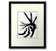 MOTION gymnastics black and white Framed Print