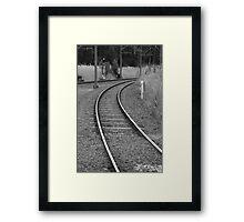 corner tracks Framed Print