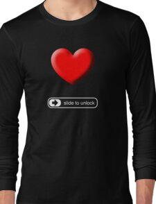 Slide to Unlock My Heart Long Sleeve T-Shirt