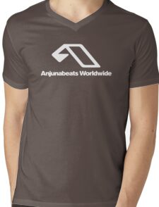 World Wide Beats Record of Anjuna Mens V-Neck T-Shirt