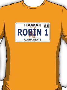 Robin 1  Magnum Hawaii Plate T-Shirt