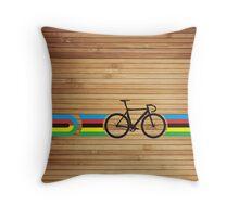 Bike Stripes World Track Champion Throw Pillow