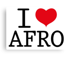 I Love Afro Canvas Print