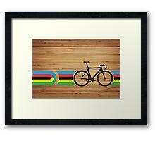 Bike Stripes World Track Champion Framed Print