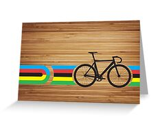 Bike Stripes World Track Champion Greeting Card