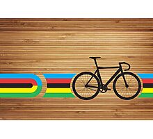 Bike Stripes World Track Champion Photographic Print