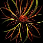 Flow Paper Firey Flower by Cindy Hitch