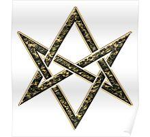 Unicursal hexagram, magic, ritual, spell, magick, symbol Poster
