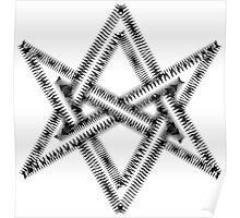 Unicursal hexagram, magical symbol, magick, ritual, spell Poster
