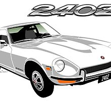 Datsun 240Z white by car2oonz