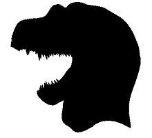 Tyrannosaurus Rex Head Silhouette by kwg2200
