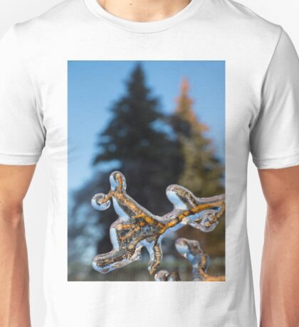Mother Nature's Christmas Decorations - Encapsulated Branch Unisex T-Shirt