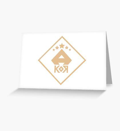 A.Kor Greeting Card