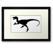 Velociraptor Silhouette Framed Print