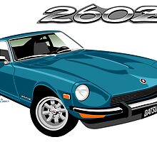 Datsun 260Z turquoise by car2oonz